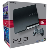 Sony Playstation 3 Slim 320 GB, PS3 Slim (CECH-3004B)