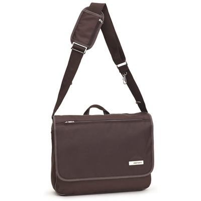 Allerhand Modern Basic Messenger Bag Chocolate Brown