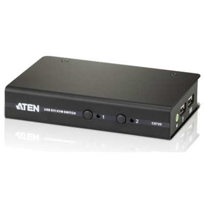 Aten CS72D Tastatur/Video/Maus (KVM) Switch