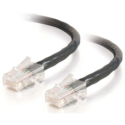 C2G Cat5E Assembled UTP Patch Cable Black 10m