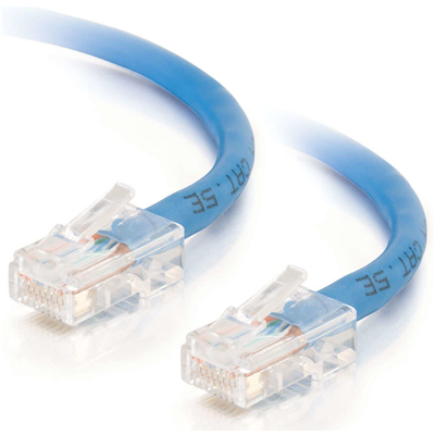 C2G Cat5E Assembled UTP Patch Cable Blue 1m