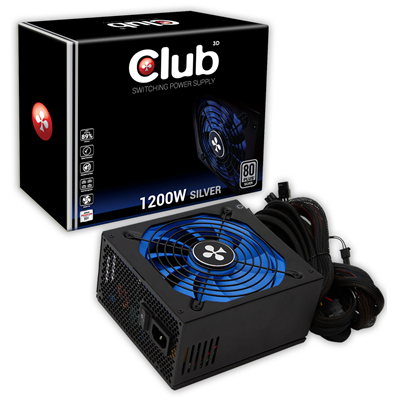CLUB3D CSP-X1200CS 80 PLUS Silver Certified 1200Watt Switching Power Supply