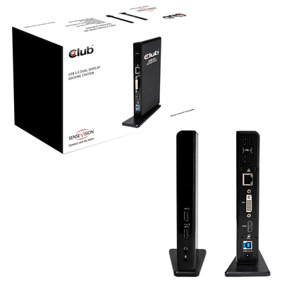 CLUB3D SenseVision USB3.0 Dual Display Docking Station (CSV-3242HD)