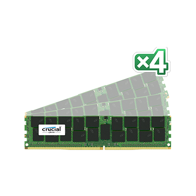 Crucial 64GB (16GB x 4) DDR4 PC4-17000 ECC 1.2V (CT4K16G4RFD4213)