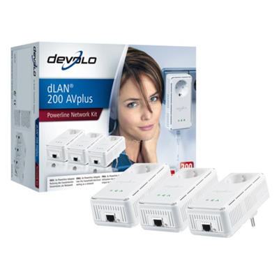 Devolo dLAN 200 AVplus Network Kit 3 Adapter (1586)