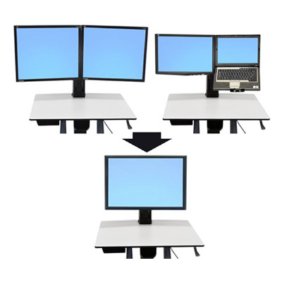 Ergotron WorkFit Convert-to-Single HD Kit from Dual or LCD & Laptop