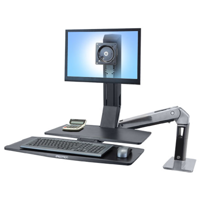 Ergotron WorkFit WorkFit-A, Single LD @ Worksurface+