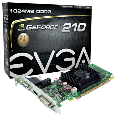 EVGA 01G-P3-1312-LR NVIDIA GeForce 210 1GB
