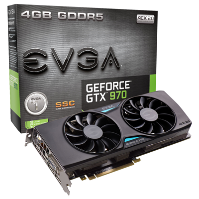 EVGA 04G-P4-3975-KR NVIDIA GeForce GTX 970 4GB