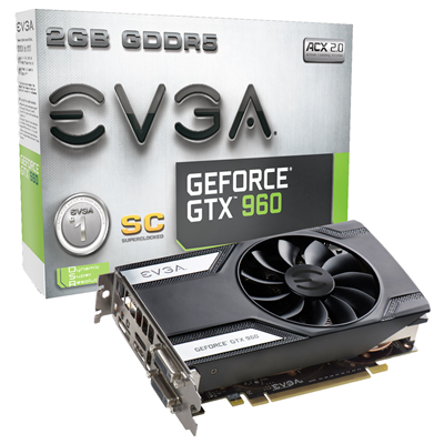 EVGA GeForce GTX 960 Superclocked NVIDIA GeForce GTX 960 2GB