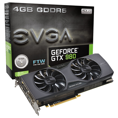 EVGA GeForce GTX 980 FTW ACX 2.0 NVIDIA GeForce GTX 980 4GB