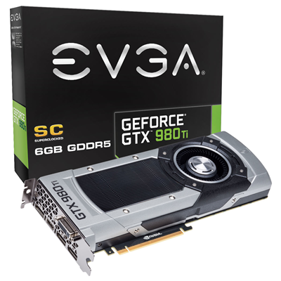 EVGA GeForce GTX 980 Ti Superclocked 6GB NVIDIA GeForce GTX 980 Ti 6GB