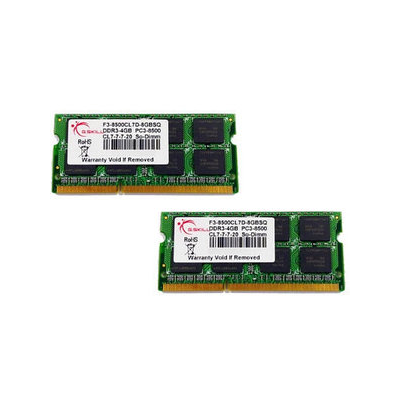 G.Skill SO-DIMM Kit 8GB DDR3-1066 (F3-8500CL7D-8GBSQ)
