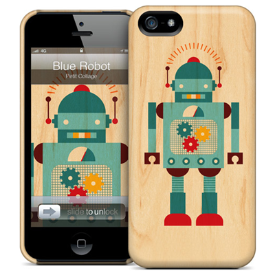 GelaSkins Blue Robot iPhone 5 THC