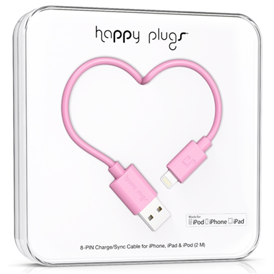 Happy Plugs 2m, Lightning - USB (9902)