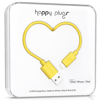 Happy Plugs 2m, Lightning - USB (9905)