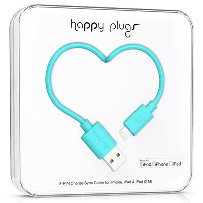 Happy Plugs 2m, Lightning - USB (9906)