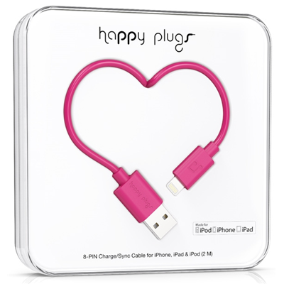 Happy Plugs 2m, Lightning - USB (9907)
