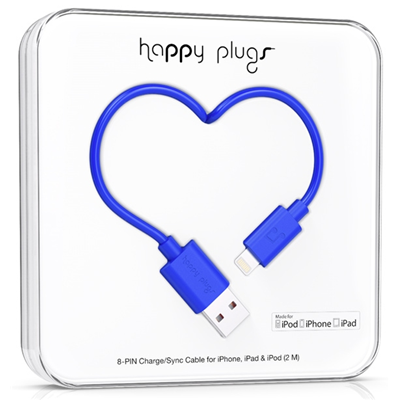 Happy Plugs 2m, Lightning - USB (9908)