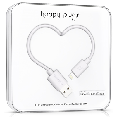 Happy Plugs 2m, Lightning - USB (9909)