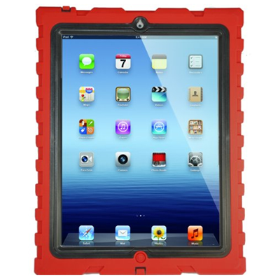Hard Candy Cases SD-IPAD3-RED-BLK