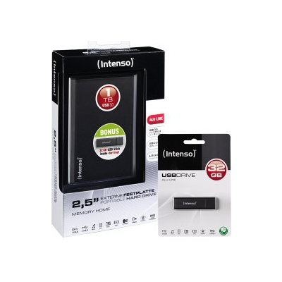 Intenso Memory Home USB 3.0 1TB + Alu Line 32GB (6026680)