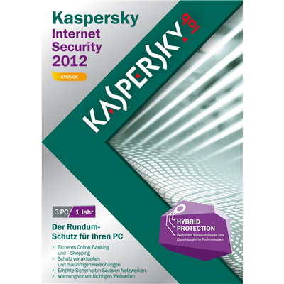 Kaspersky Internet Security 2012 Upgrade, 3 User - DVD-Box