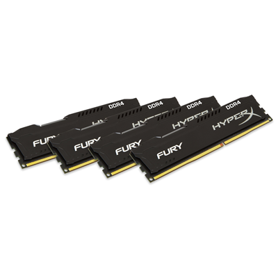 Kingston Technology HyperX FURY 16GB 2400MHz DDR4 Kit of 4 (HX424C15FBK4/16)