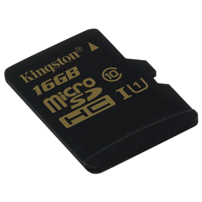 Kingston Technology microSDHC Class 10 UHS-I 16GB (SDCA10/16GBSP)