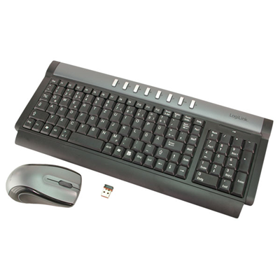 LogiLink Keyboard Mouse Combo RF Wireless 2.4 GHz (ID0013)