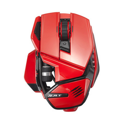 Mad Catz Office R.A.T, kabellose Office Maus für PC, Mac und Android, rot (MCB437240013/04/1)