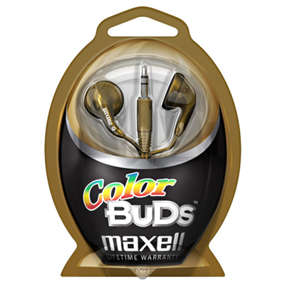 Maxell Colour Budz Headphones Gold