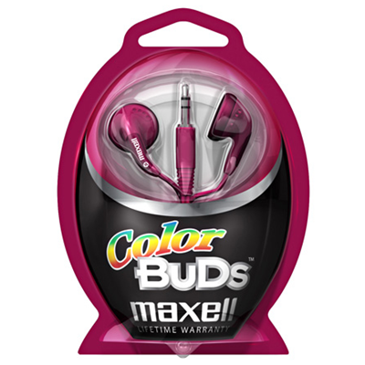 Maxell Colour Budz Headphones Red
