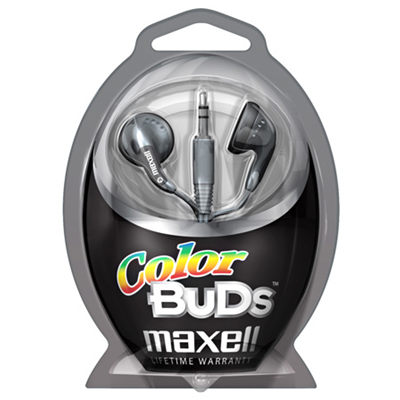 Maxell Colour Budz Headphones Silver