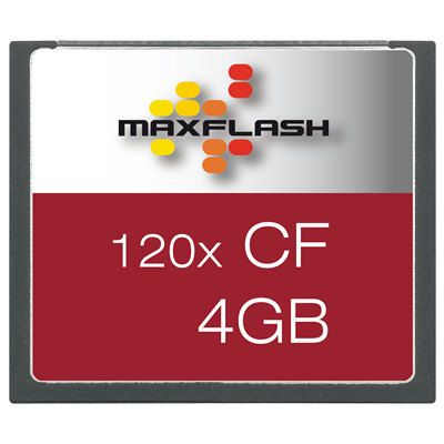 MaxFlash Compact Flash Card 4 GB (CF4G120M-R)