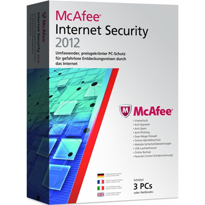 McAfee Internet Security 2012, 3 User