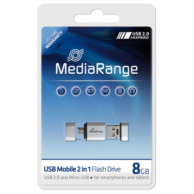 MediaRange 8GB USB Mobile 2 in 1 OTG (MR930)