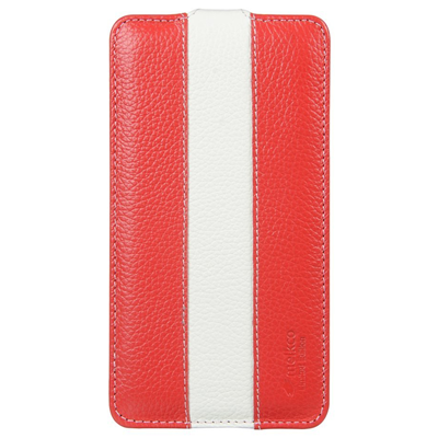 Melkco Premium Leather Limited Edition Jacka Type Case for Samsung Galaxy Note 3 GT N9000 - Red/White