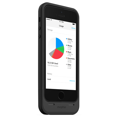 Mophie Space Pack (2615_SP-IP5-16GB-BLK)