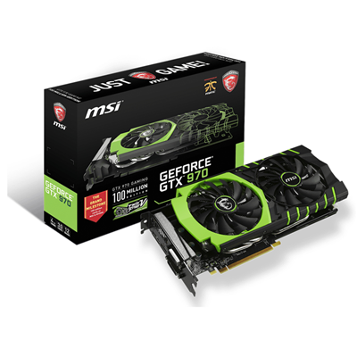 MSI GTX 970 GAMING 100ME NVIDIA GeForce GTX 970 4096GB