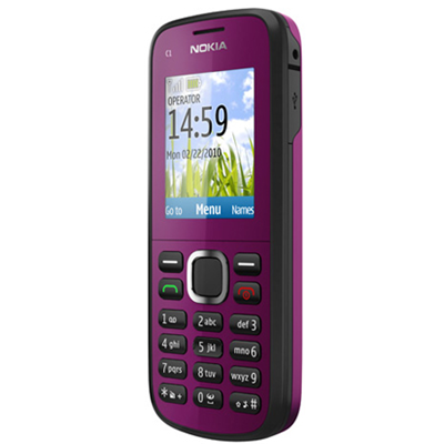 Nokia C1-02 dark plum
