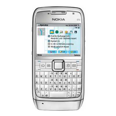 Nokia E71 - White Steel