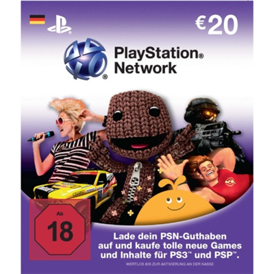 PlayStation Network PSN LiveCards - 20 Euro