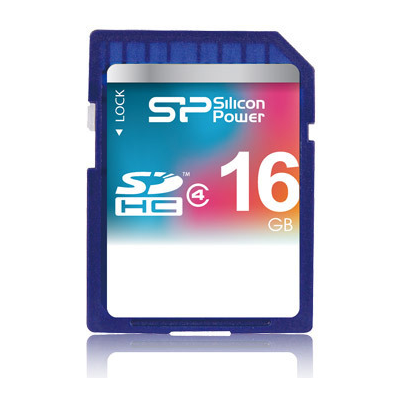 Silicon Power 16GB SDHC CL4 (SP016GBSDH004V10)