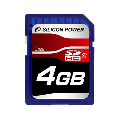 Silicon Power 4GB SDHC CL4 (SP004GBSDH004V10)