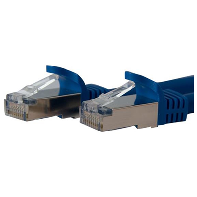 StarTech 7 ft Blue Shielded Cat6a Molded STP Patch Cable