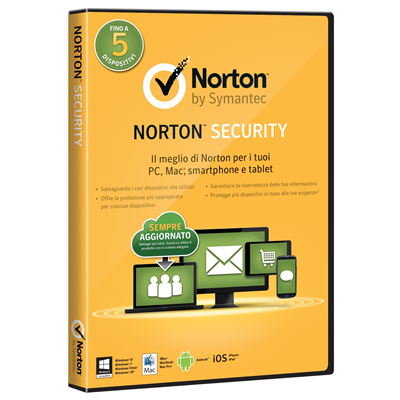 Symantec Norton Security 2.0, 1u, 1Y, DVD, ITA (21333476)