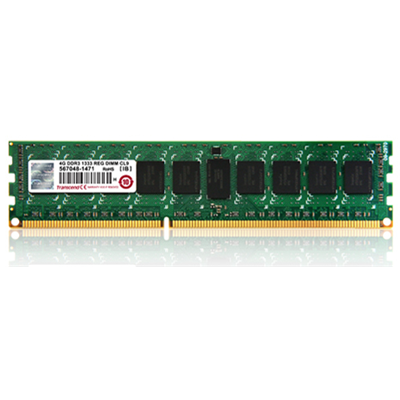 Transcend Transcend 4GB DDR3 1600 PC3-12800 240-pin DIMM ECC Registered CL11 (TS512MKR72V6N)
