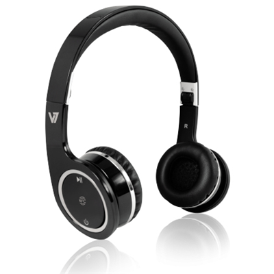 V7 Bluetooth Wireless Headset mit NFC - schwarz
