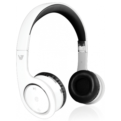 V7 Bluetooth Wireless Headset mit NFC - weiss